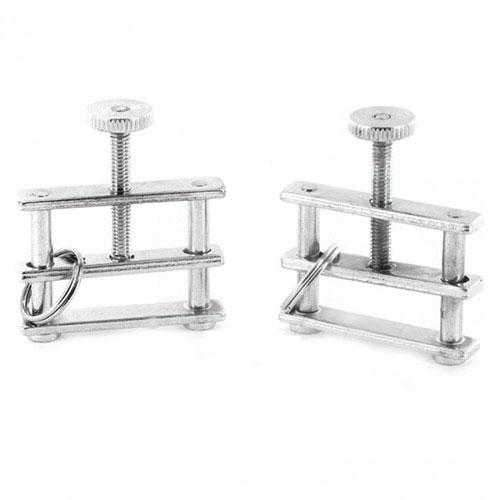 Rimba  Metal Adjustable Nipple Clamps  Silver