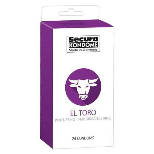 Secura Kondome El Toro Performance Ring Condoms Pack of 24