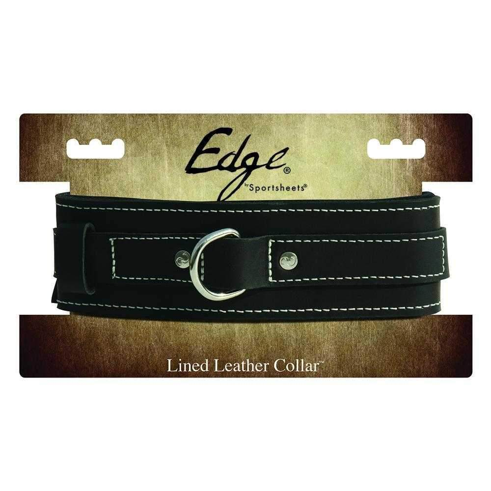 Sportsheets  Edge Lined Leather Collar  Black  12""