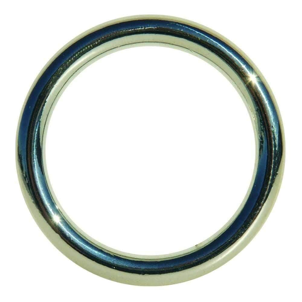 Sportsheets  Edge Seamless Metal Cock Ring  Silver  1.75""