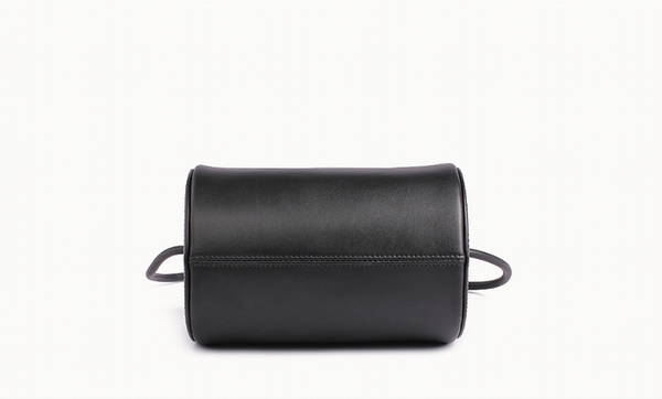 Cylinder Sling Leather Bag-Black - Ms.Little's Bag   - 3