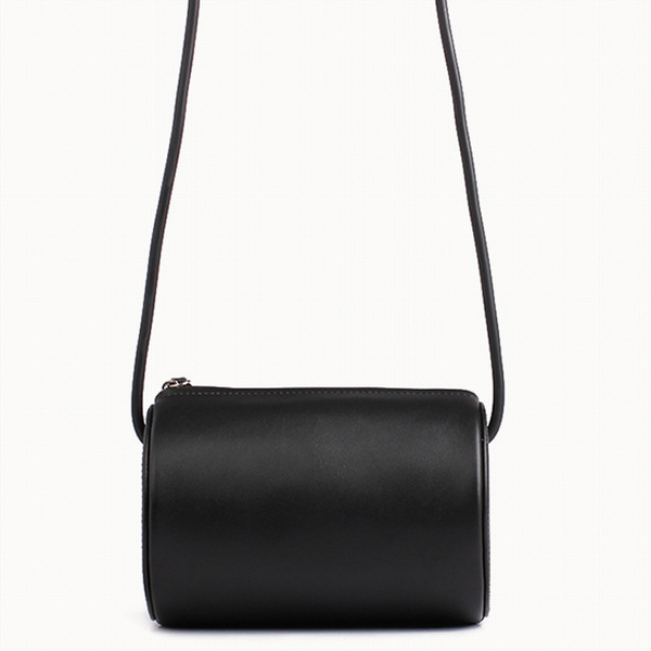 Cylinder Sling Leather Bag-Black - Ms.Little's Bag   - 2
