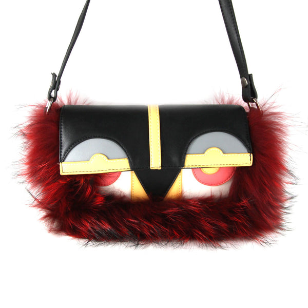 Little Monster Bag with Red Fur - Ms.Little's Bag   - 2