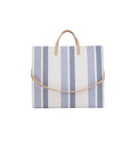 Simple Tote Blue and White Stripe