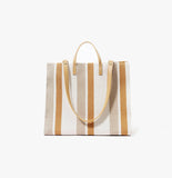 Simple Tote Brown and White Stripe