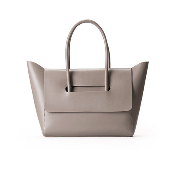 Taupe Leather Tote - Ms.Little's Bag  - 1