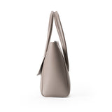Taupe Leather Tote - Ms.Little's Bag   - 3