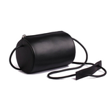Cylinder Sling Leather Bag-Black - Ms.Little's Bag   - 1