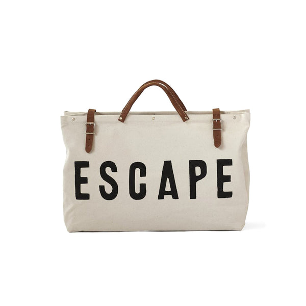 Escape Canvas Tote Bag-White