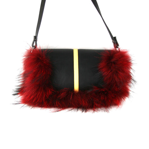 Little Monster Bag with Red Fur - Ms.Little's Bag   - 3