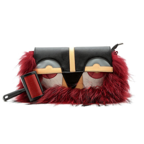 Little Monster Bag with Red Fur