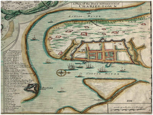 A Plan of the Town & Harbor of Charles Town, 1718