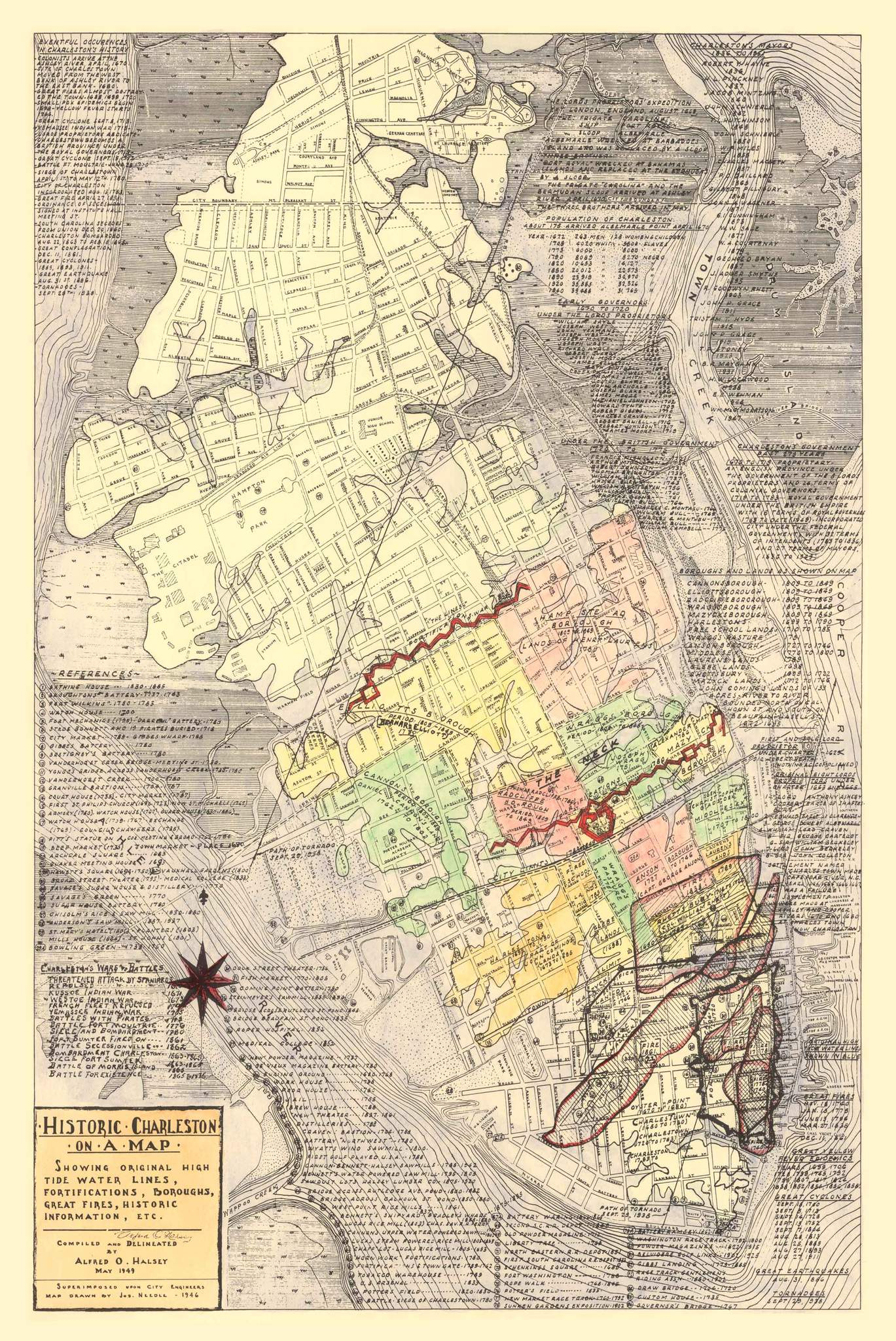 The Halsey Map of Charleston, 1949