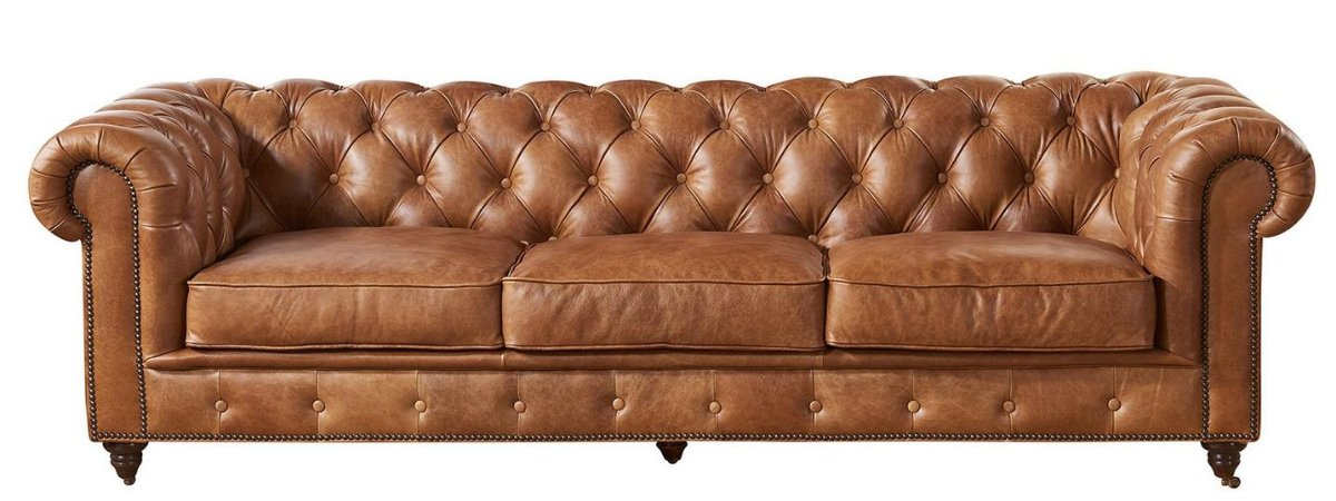 Leather Chesterfield Living Room Sofas, Love Seats, and Arm Chairs