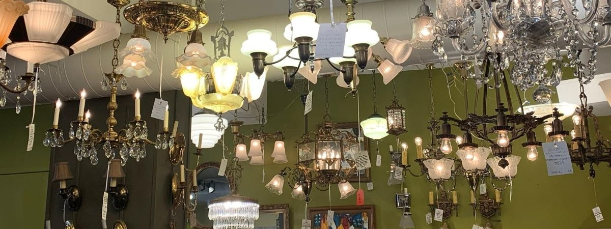 Vintage & Antique Lighting: Chandeliers, Pendants, Wall Sconces, and Floor Lamps