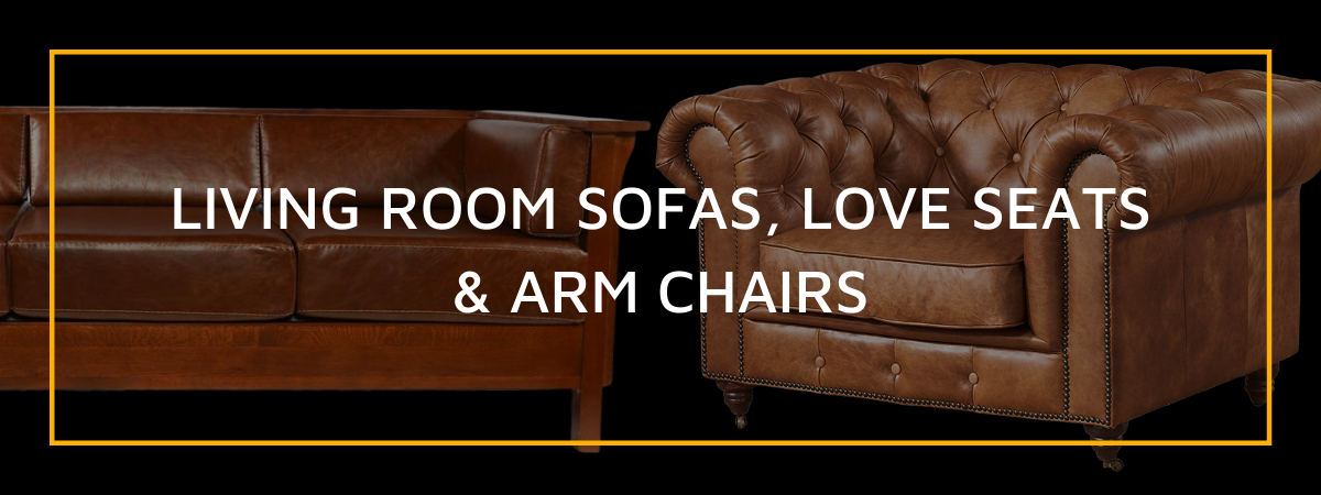 Living Room Sofas, Love Seats, and Arm Chairs
