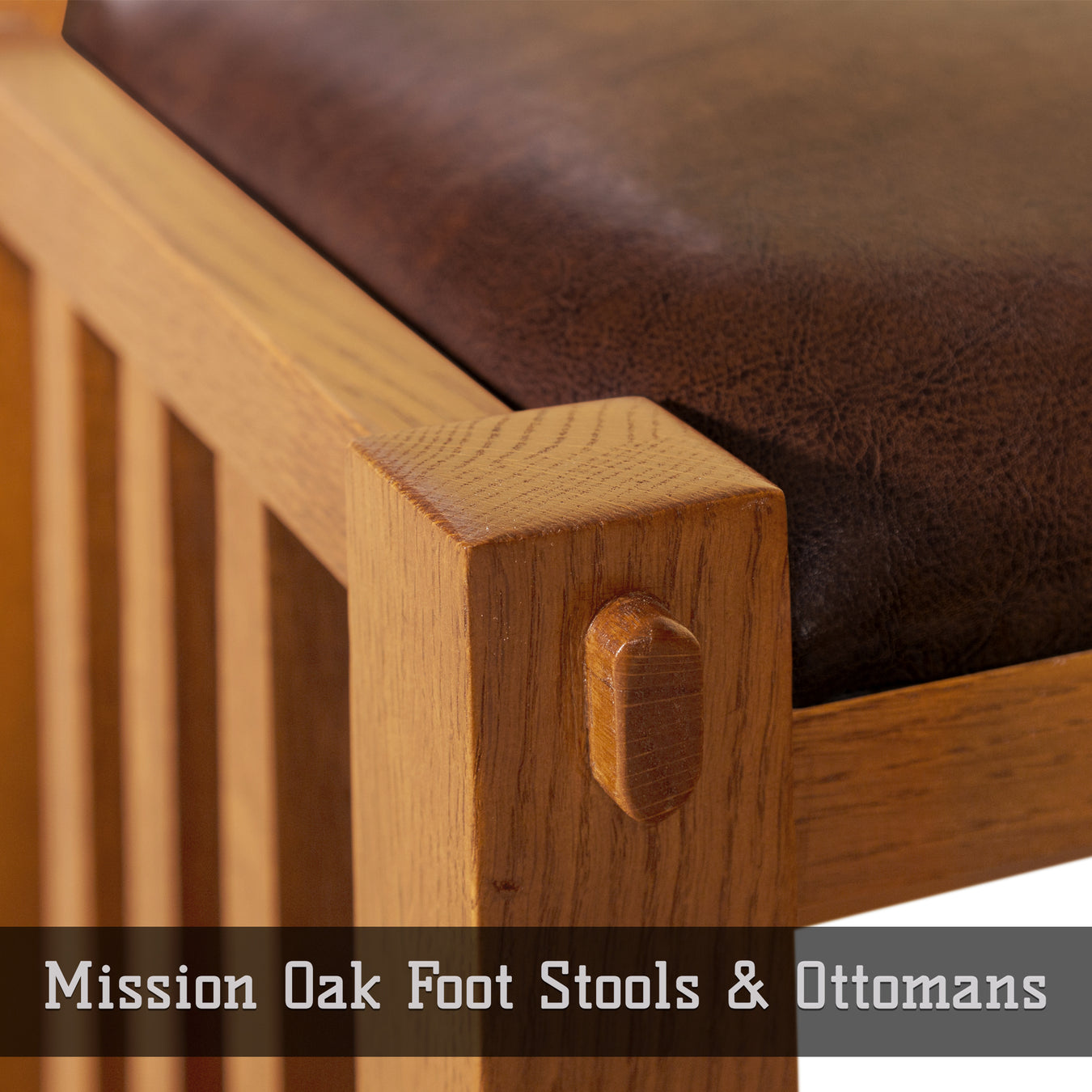 Mission Oak Foot Stools & Ottomans