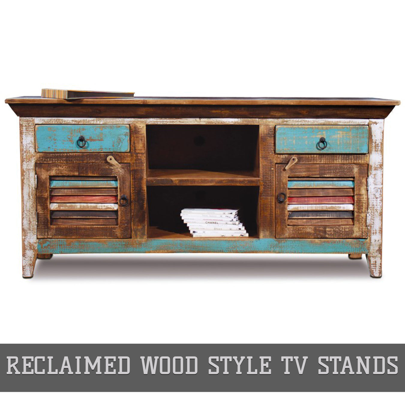 Reclaimed Wood Style TV Stands