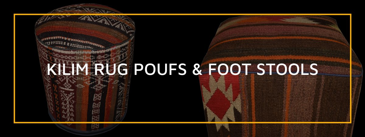 Kilim Rug Poufs and Foot Stools
