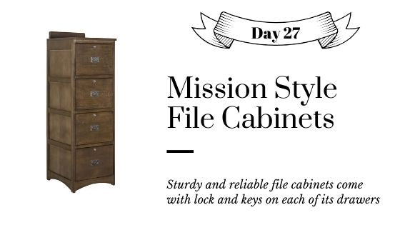 Traditional Mission Style Solid Oak Vertical File Cabinets with Lock and Key with 2 or 4 Drawers