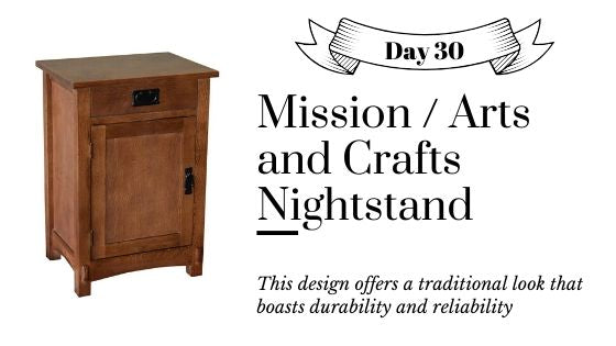 Mission / Arts and Crafts Style Nightstands and End Tables Solid Oak with 1 Door and 1 Drawer