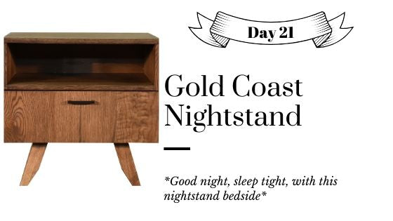 Solid Wood Modern Contemporary Low Profile Mid Century Modern Nightstand Bedside Table