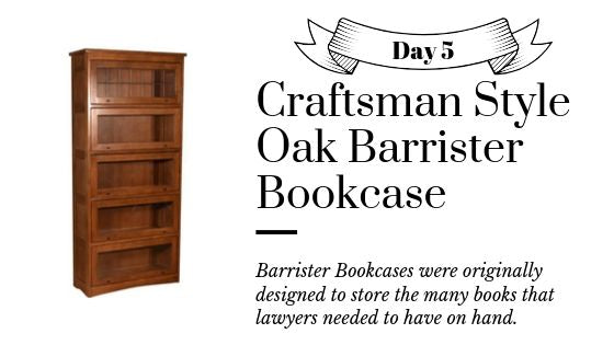 Solid Oak Barrister Bookcases 5 Stack - Mission and Craftsman Style Bookcases from Crafters and Weavers