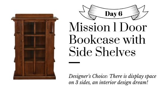 Solid Oak Display Bookcase - Mission and Craftsman Style Bookcases from Crafters and Weavers
