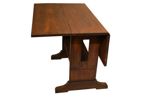 Mission Style Oak Drop Leaf Square Dining Table