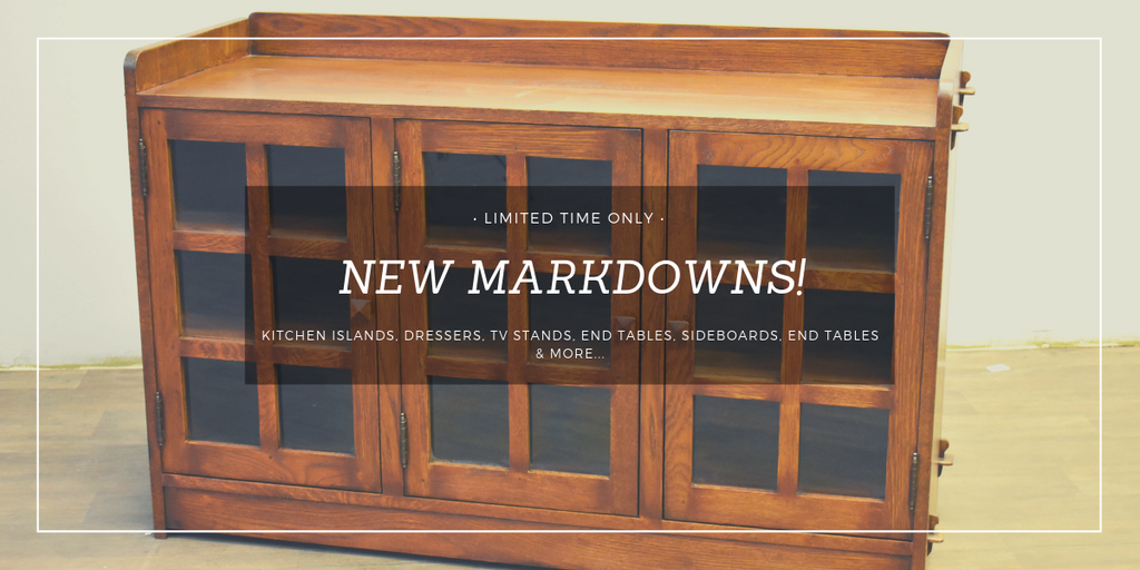 ON SALE - KITCHEN ISLANDS, DRESSERS, TV STANDS, END TABLES, SIDEBOARDS, END TABLES from Crafters and Weavers