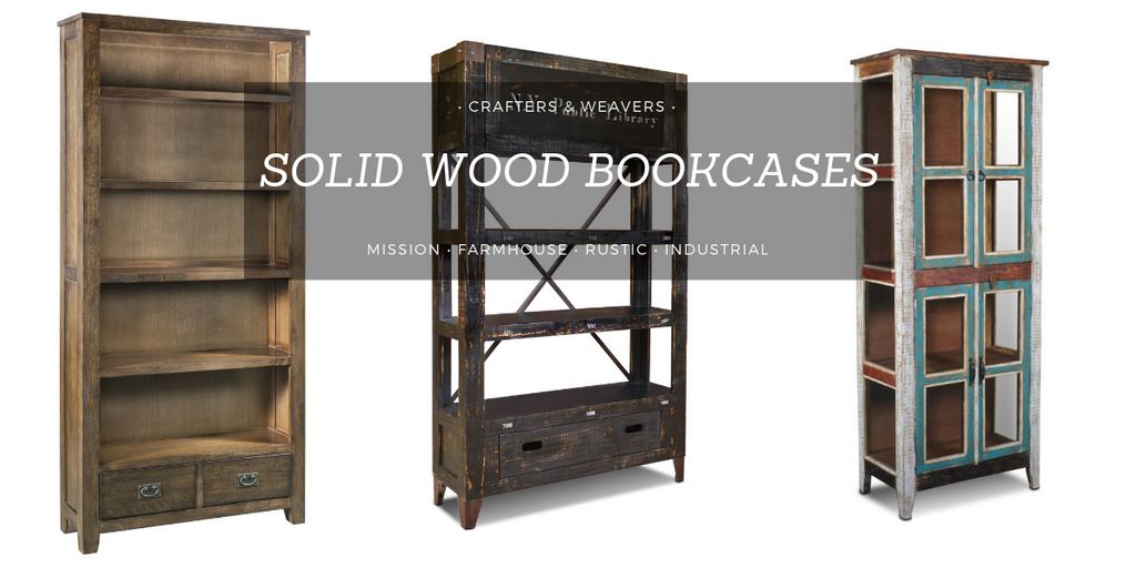 Solid Wood Bookcases For Sale Crafters Weavers