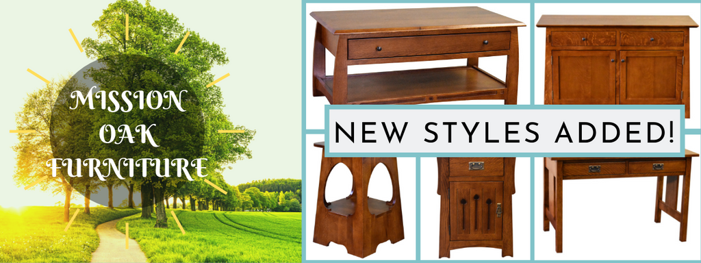 New solid quarter sawn oak mission / arts and crafts style furniture