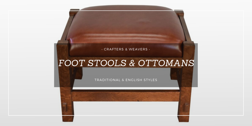 Foot Stools and Ottomans from Crafters and Weavers