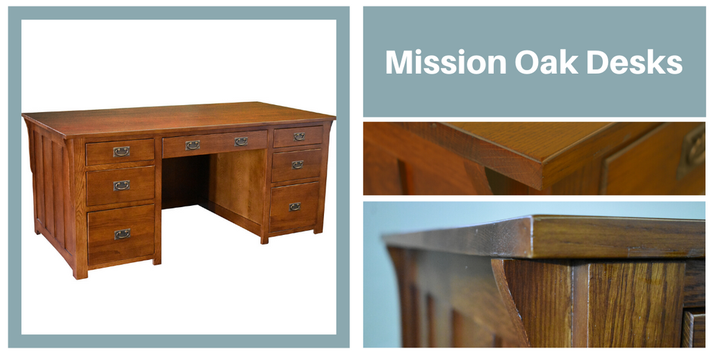 Mission Oak Desks from Crafters and Weavers
