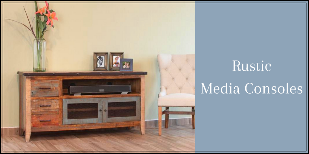 Rustic Media Consoles from Crafters and Weavers