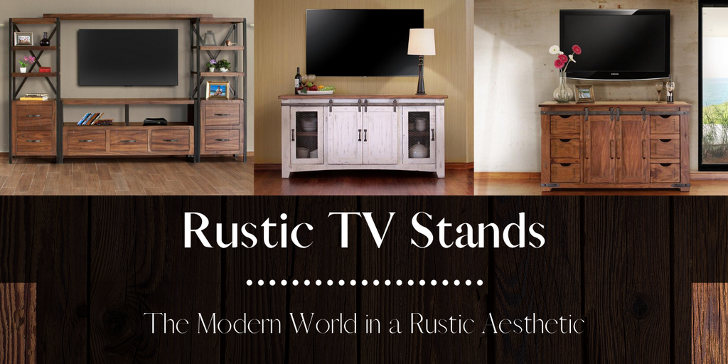 Rustic TV Stands from Crafters and Weavers