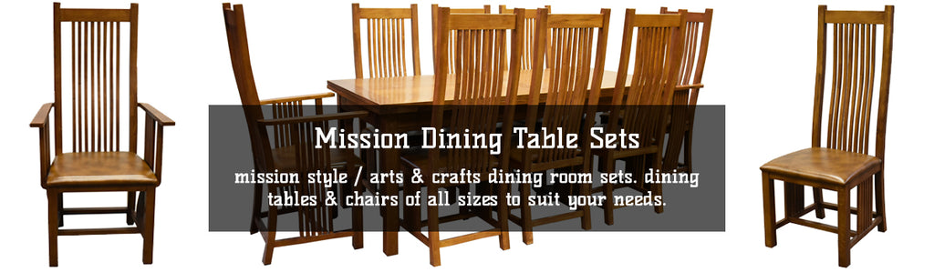 Mission Style Oak Dining Table Sets