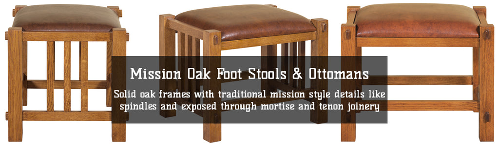 Mission Oak Foot Stools & Ottomans with Free Shipping