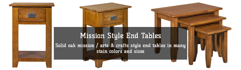 Solid Oak Mission Style End Tables and Side Tables by Crafters and Weavers