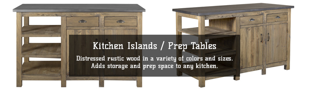 Kitchen Island Tables for Sale | Distressed Wood Islands