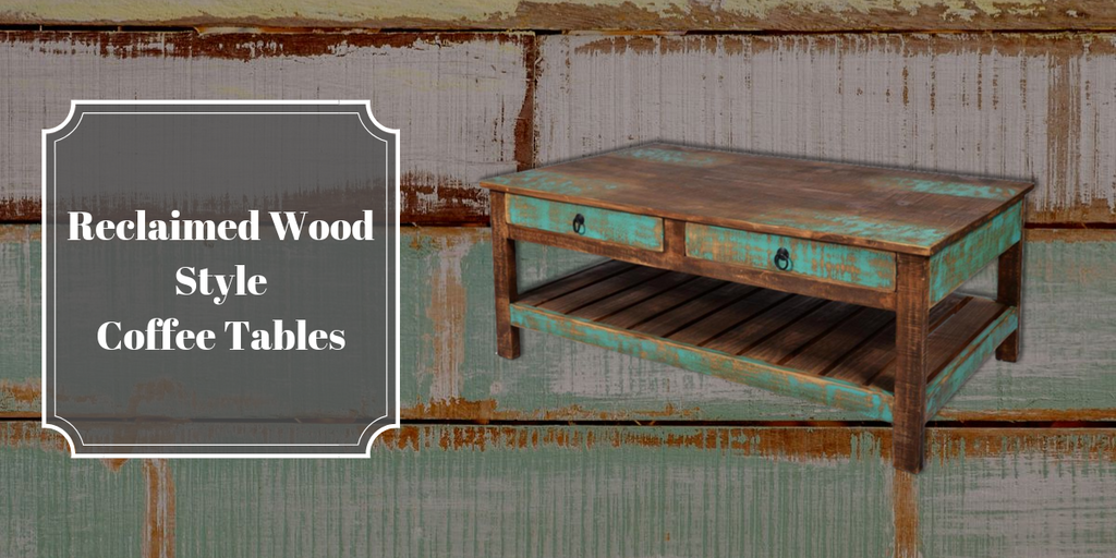 Reclaimed Wood Style Coffee Tables from Crafters and Weavers