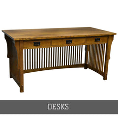 Shop all solid wood desks from Crafters and Weavers