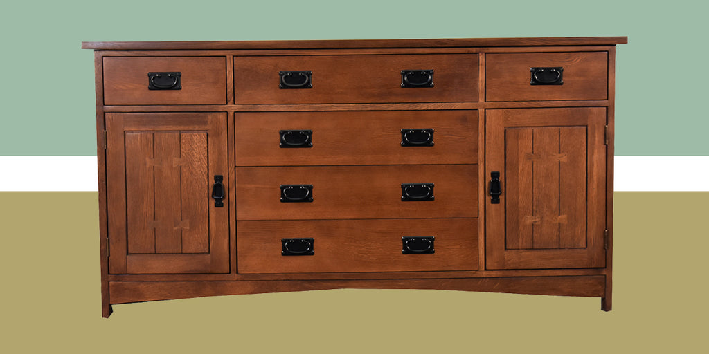Mission Style / Arts & Crafts Solid Quarter Sawn Oak Sideboard Buffet