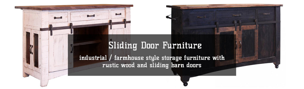 Industrial Farmhouse Style Sliding Barn Door Furniture