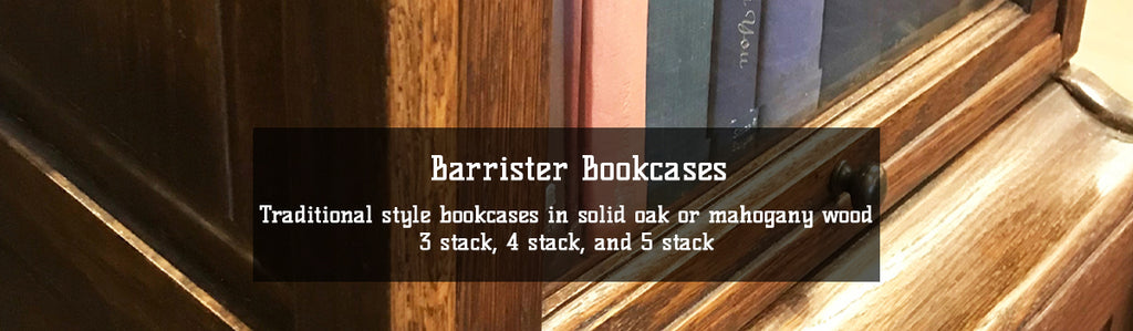 Solid Wood Oak And Mahogany Barrister Bookcases In 3 4 And