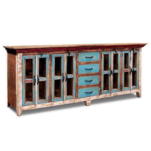 "PREORDER La Boca Solid Wood Sideboard - 84"" - Crafters and Weavers"