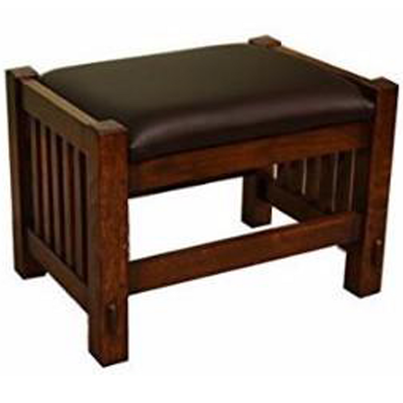 Arts & Crafts Quarter Sawn Oak Mission Foot Stool