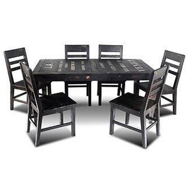 City Dining Set with 6 Chairs
