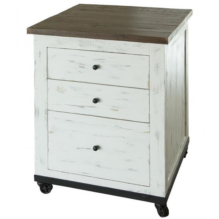 Greenview Mod File Cabinet - Distressed White