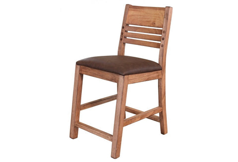 "Granville Habillo Wood Peg Stool - 24"" High"